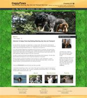HappyPawsDogWalking home page | NoticedWebsites Richmond