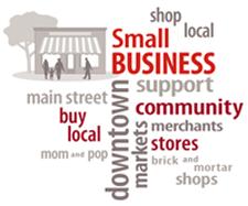 Small business marketing strategy word cloud