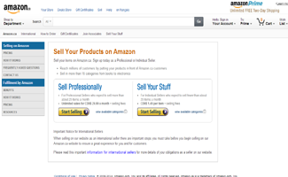 Amazon Reseller Page