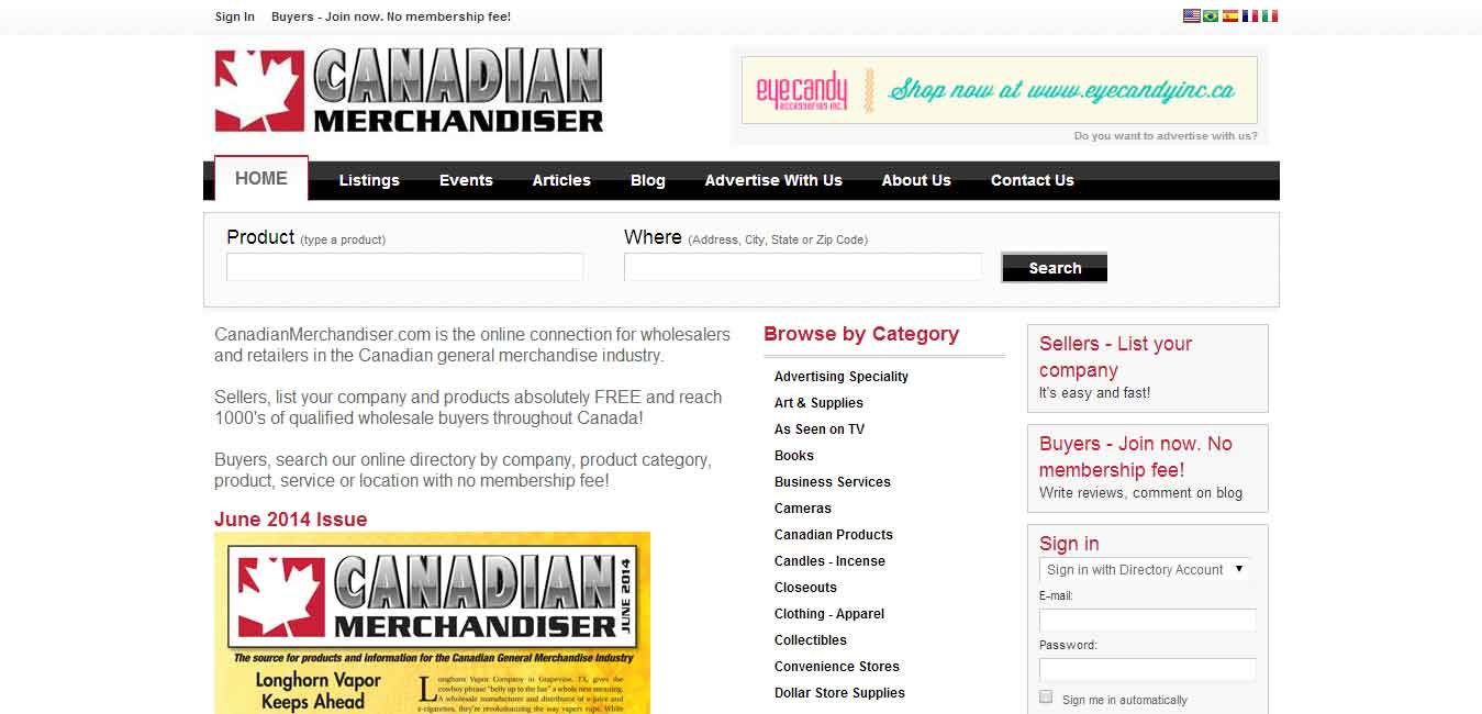 Canadian Merchandiser Home Page