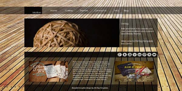 Funky custom website design example | Noticedwebsites
