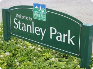 Vancouver Welcome Stanley Park Sign