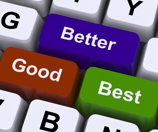 Good, better, best review keys | Noticedwebsites