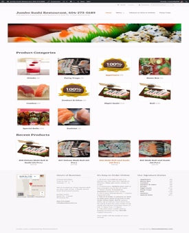 Jumbo Sushi Ecommerce Restaurant Website