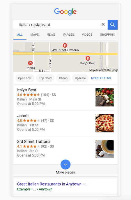 Local search ranking and the Google Three Pack | Noticedwebsites