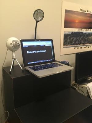 An example spokesperson video studio setup.