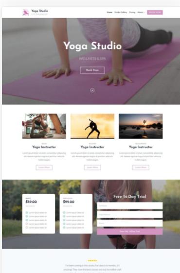 Custom website design example | Noticedwebsites