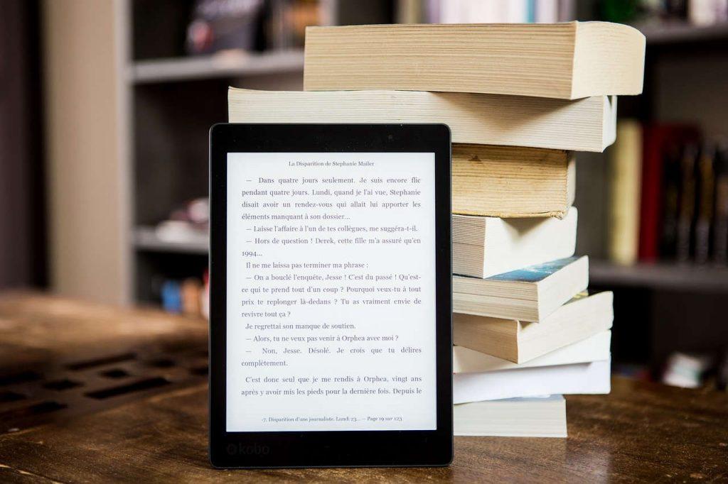 Ebook marketing, an ebook on a reader